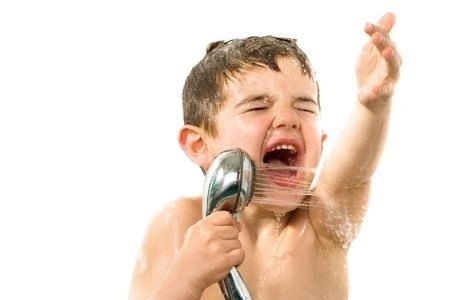 kids to take short shower